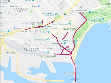 Затварят няколко улици за Деня на Варна