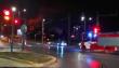 Голям пожар на околовръстното снощи (видео)
