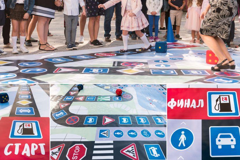 """ЕКО България зарадва първокласниците от ОУ ,,Захари Стоянов"""" с интерактивна площадка за пътна безопасност"""