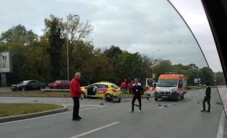 Тежка катастрофа до Спортна зала (снимки)