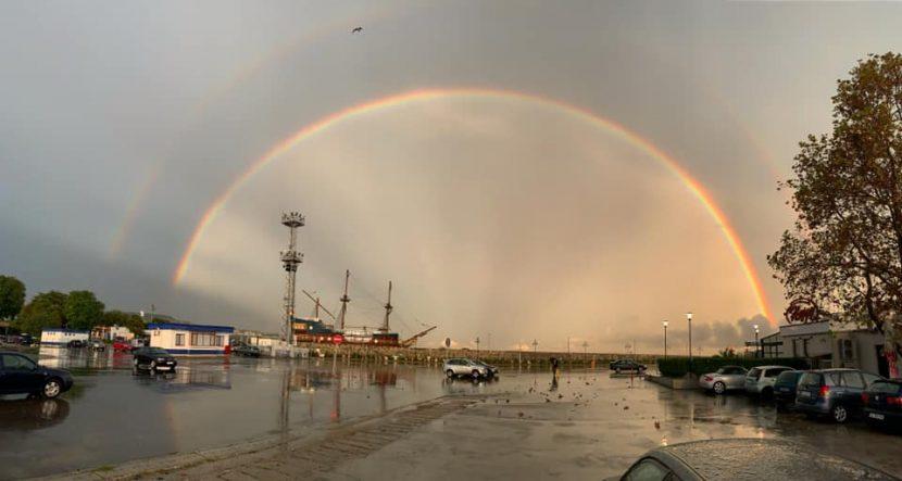 Топ 10 снимки на дъгата от днес над Варна