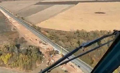 Борисов показа строежа на магистралата до Сърбия хеликоптер (ВИДЕО)