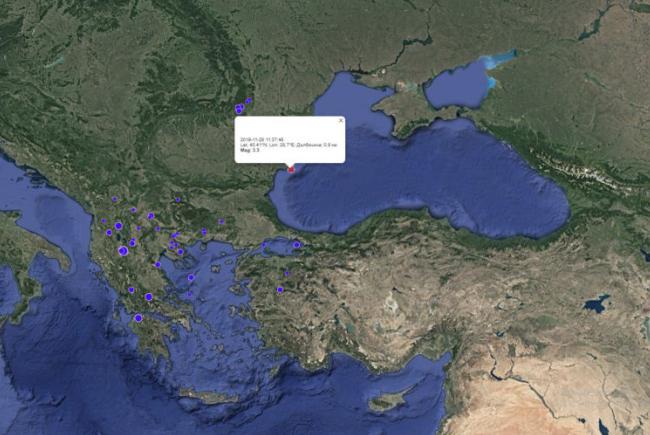Земетресение и в България, близо до Варна