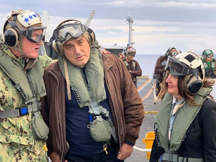 "Борисов, Херо Мустафа и Заев заедно на самолетоносача ""Хари Труман"" (СНИМКИ)"