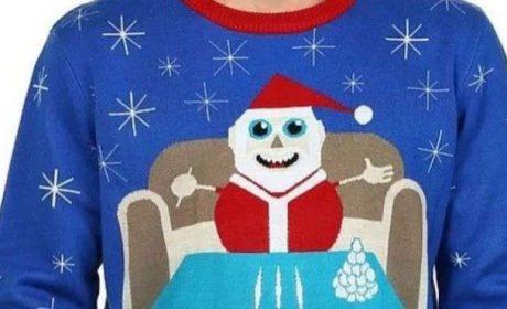 """Изтеглиха от продажба пуловер с Дядо Коледа, """"който си прави линии с кокаин"""""""