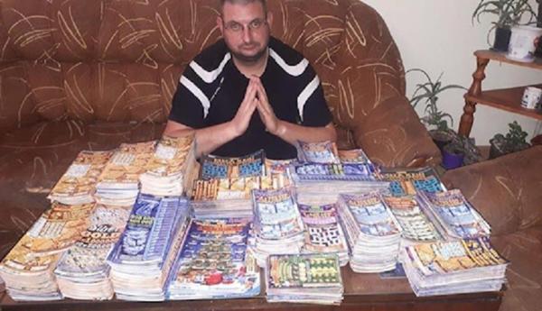Мъж изтърка 22 кг. лотарийни билети спечели точно 20 лева!