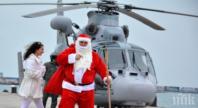 """Шейната с подаръци на Дядо Коледа """"каца"""" във Варна"""