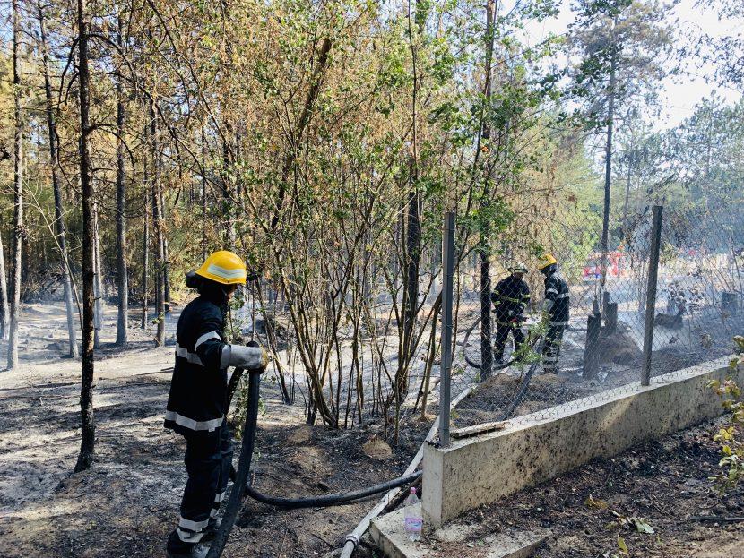Пожарната със зрелищна демонстрация пред Община Варна