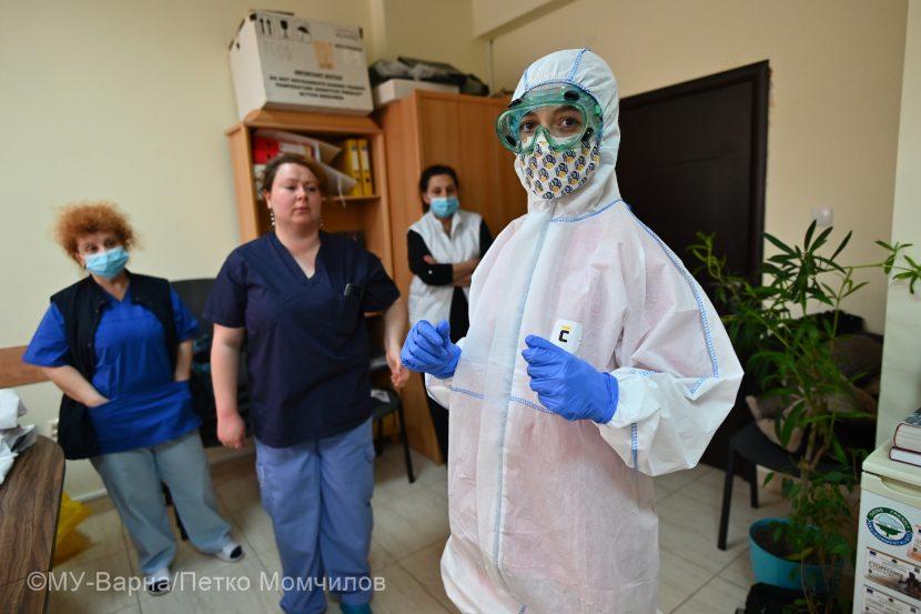 """Медицинските екипи в УМБАЛ """"Св. Марина""""-Варна се обучават за работа с пациенти с COVID-19 (снимки/видео)"""