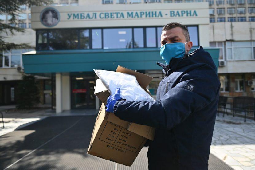 """В УМБАЛ """"Св. Марина""""-Варна започнаха да постъпват първите дарения за борба с COVID-19"""
