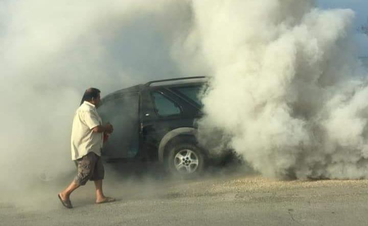 Джип горя тази сутрин в Казашко