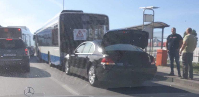 Катастрофа между лек автомобил и автобус