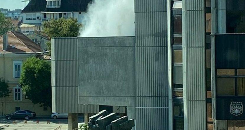 Пожар в сградата на Община варна