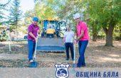 Първа копка в село Дюлино за изграждане на детска площадка