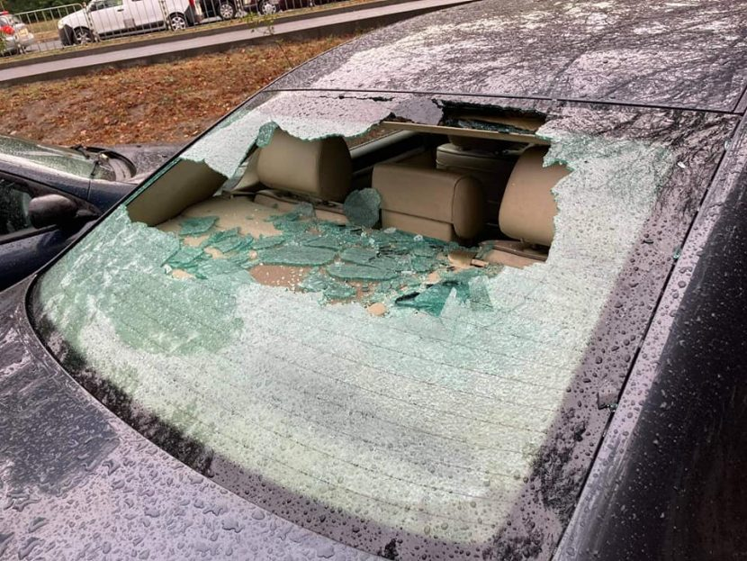 Коли във Варна осъмнаха с разбити стъкла (СНИМКИ)