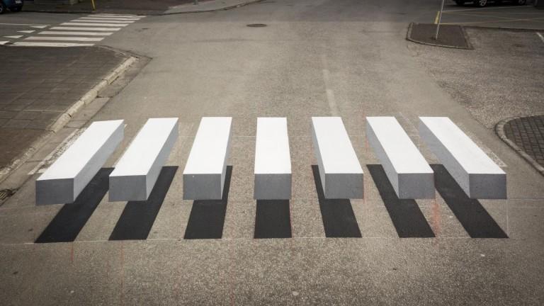 Вижте къде се намира първата 3D пешеходна пътека у нас