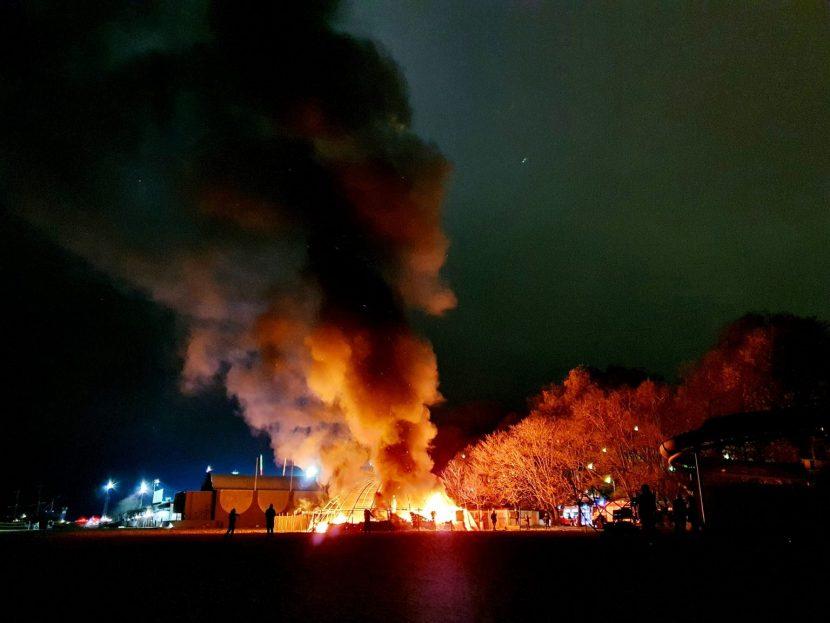 """Видео от пожара на """"Cuba bar"""""""