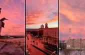 Вчера пурпурното небе над Варна (снимки)