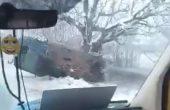 Преобърнат автомобил в района на Девня (видео)