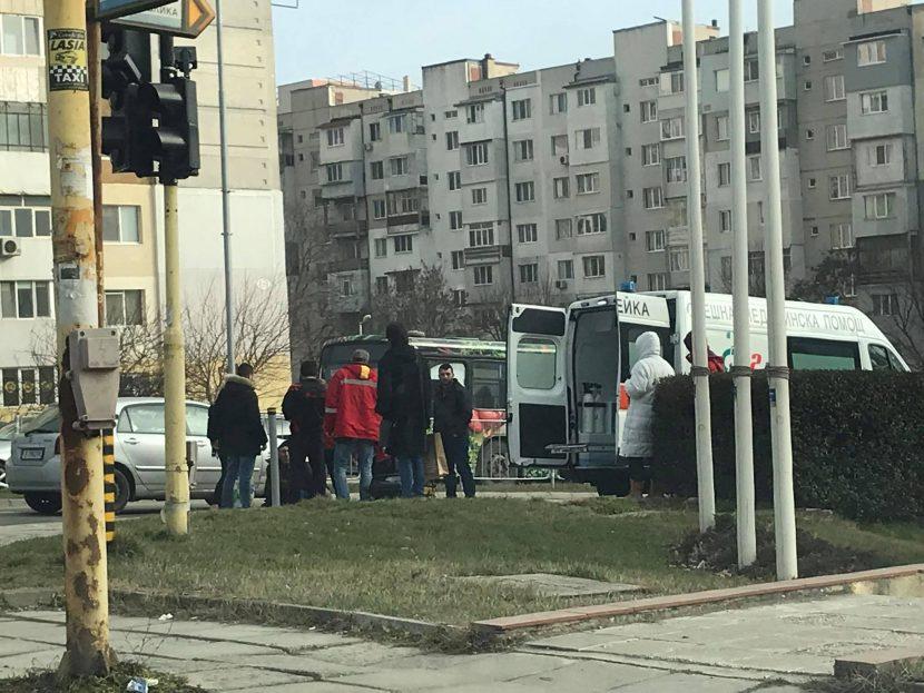 """Блъснаха пешеходец на бул. """"Република"""""""