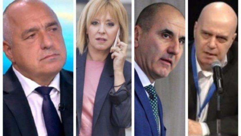 """Кой откъде ще """"краде"""" гласове? Цветанов – от ГЕРБ, Мая – от БСП, а Слави – от всички"""