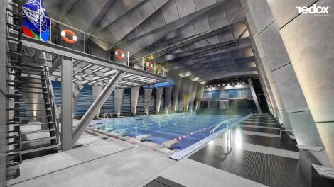 Вижте новият басейн на Военноморското училище (снимки)
