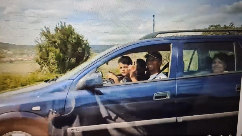 Дете кара на магистралата с 140км/ч (видео)