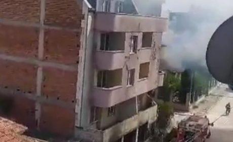 """Наркомани предизвикаха пожар до фабрика """"Христо Ботев"""" (видео)"""