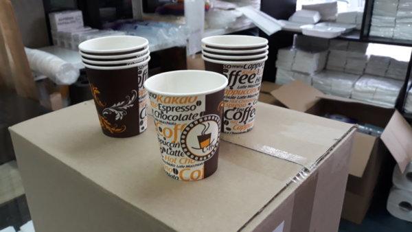 Кафемашина пуска чашки с номер на партия